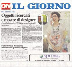il giorno, quotidiano nazionale, articolo oggetti ricercati e mostre di designer