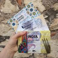 set Cartoline da colorare - India