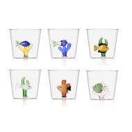 set of 6 Marine Garden tumblers